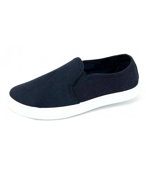 Слипоны Лотос джинсовые темно-синие